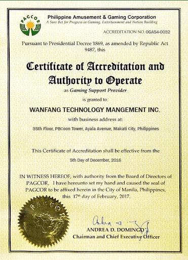 KUBET PAGCOR certificate